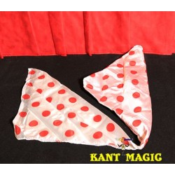 Color Change Silk Polka Dot by Mr. Magic - Trick