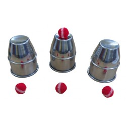 CUPS AND BALLS – ALUMINUM LARGE – 3.5″ DIA X 4.25″ HEIGHT