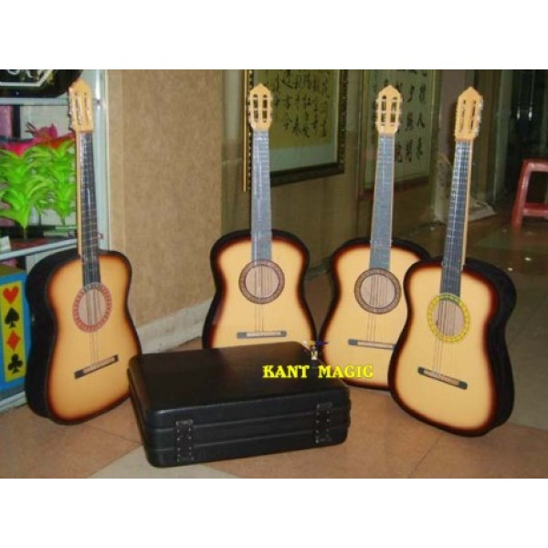 3 APPEARING GUITARS FROM SUITCASE