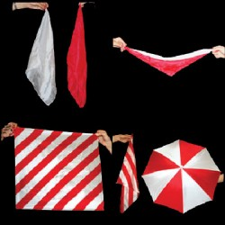 COLORFUL SILKS AND UMBRELLAS